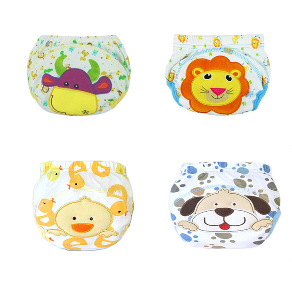 4PCS Diapers baby diaper children's underwear reusable nappies training pants panties for toilet training Learning Pants Kids