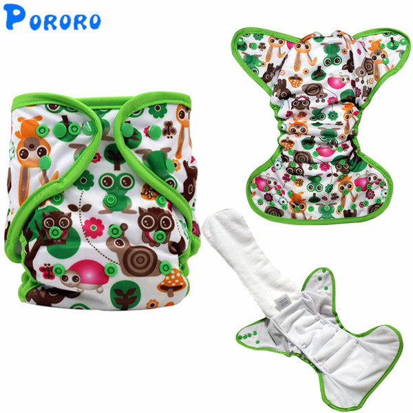 Baby Washable Cloth Diaper Nappy Cover Pockets AIO PUL Digital Printed Baby Cloth Diapers Nappy Changing Reusable Diapers