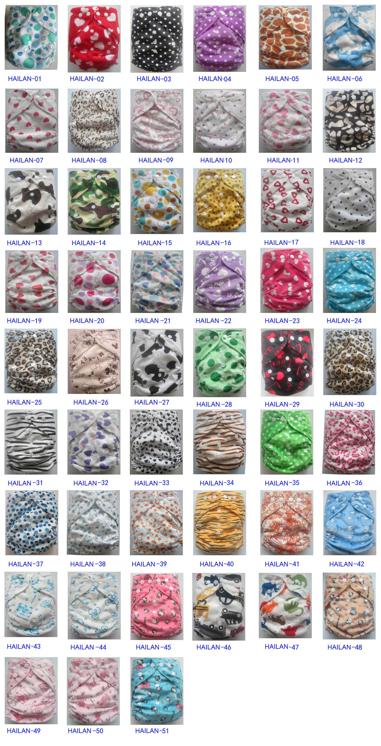 200 pcs Minky diaper with inserts One Size Cloth Diaper Waterproof Breathable PUL Reusable Diaper Covers pants for Baby