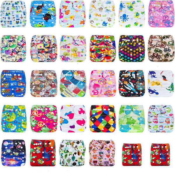 Baby cartoon print adjustable Diapers Cover Cloth Breathable Reusable Leakproof baby Diaper Covers pants kids Bread pants 29 styles C4215