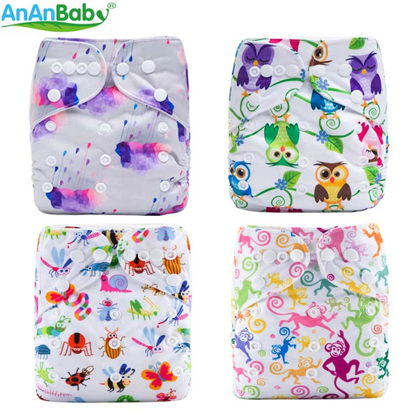 U Pick 2018 Ananbaby Reusable Washable Double Row Snaps One Size Prints Pocket Nappy with Microfiber Insert