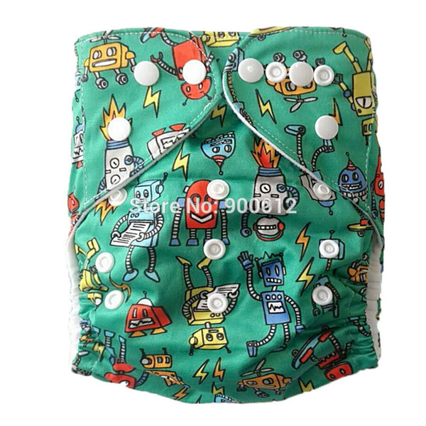 Pocket Cloth Diapers OS Pattern Washable Leaking Guard Urine Nappies With Microfiber Inserts 500 sets 1+1 Free Shipping
