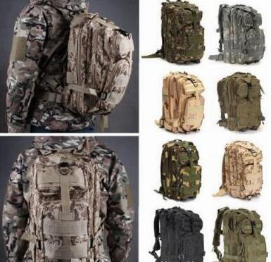 12 Colors 30L Hiking Camping Bag Military Tactical Trekking Rucksack Backpack Camouflage Molle Rucksacks Attack Backpacks DHL Free