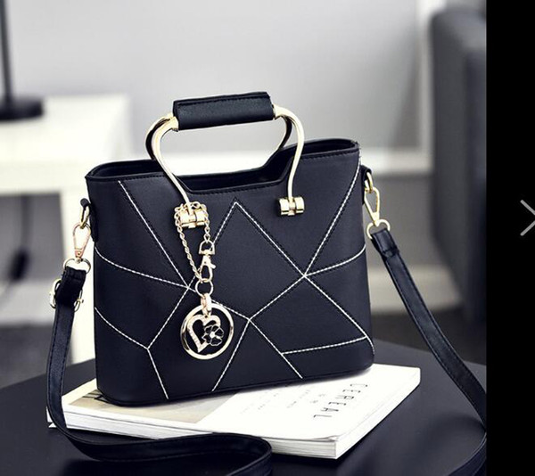 Brand New Women female Bags Korean version of the stereotyped sweet fashion handbags Messenger shoulder bag drop shipping