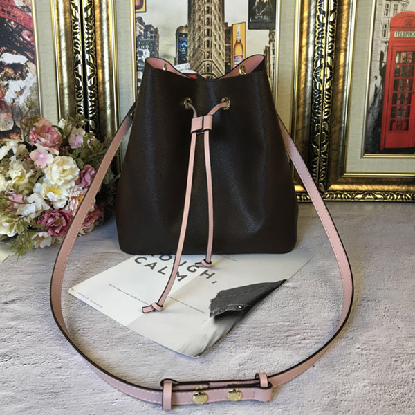 NEONOE shoulder bags Noé leather bucket bag women famous brands designer handbags flower printing crossbody bag purse TWIST Free Ship