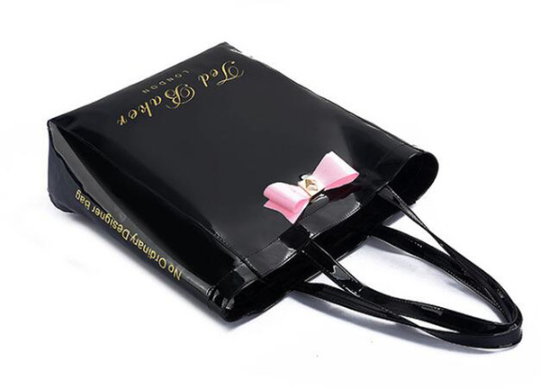 luxury brand new handbag famous designer pvc women hand ladies shoulder bag bow black beach bags Totes