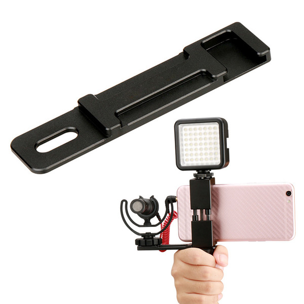 Microphone Cold Shoe Plate Handhold Stabilizer Phone Mount Video Grip Stand for Ulanzi PT-1 @JH