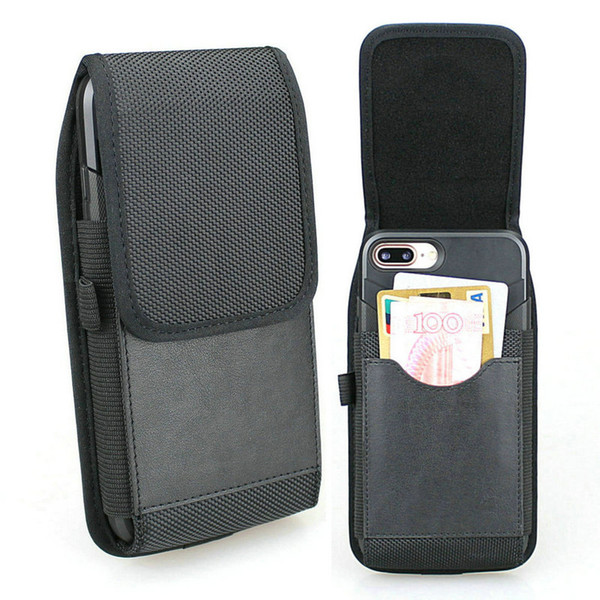 Wholesale 30 Pcs/Lot Vertical Holster Pouch Nylon Belt Loop Case with Built in Card Slots For Samsung Note 9