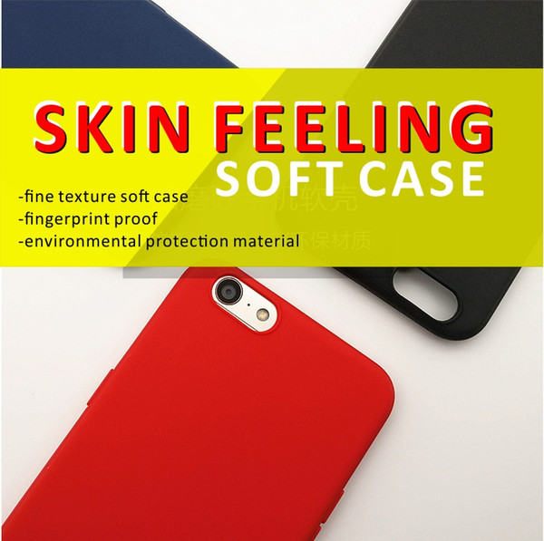 Soft touch mobile phone case For IPhone X 10 8 7 6 Plus TPU Case Ultra Thin Shockproof Back Soft Cover Skin feeling fingerprint proof