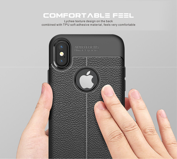 New CellPhone Cases Leather texture case For iPhone XR XS MAX X 8 7 Plus Double protection Shock proof Dual hard PC+soft TPU hybrid armor