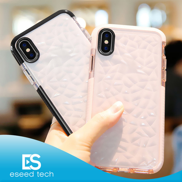 For 2019 NEW Iphone 11 XR XS MAX X Case High Quality Soft Silicone Shockproof Cover Protector Crystal Bling Glitter Rubber TPU Clear case