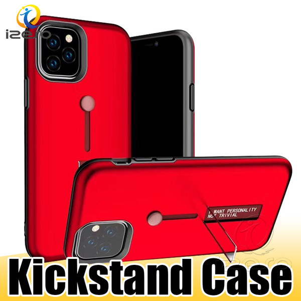 For iPhone XI XS MAX XR X 8 7 Hybrid Ring Holder Metal Stand Armor Phone Case Anti Shock Kickstand Back Cover Shell