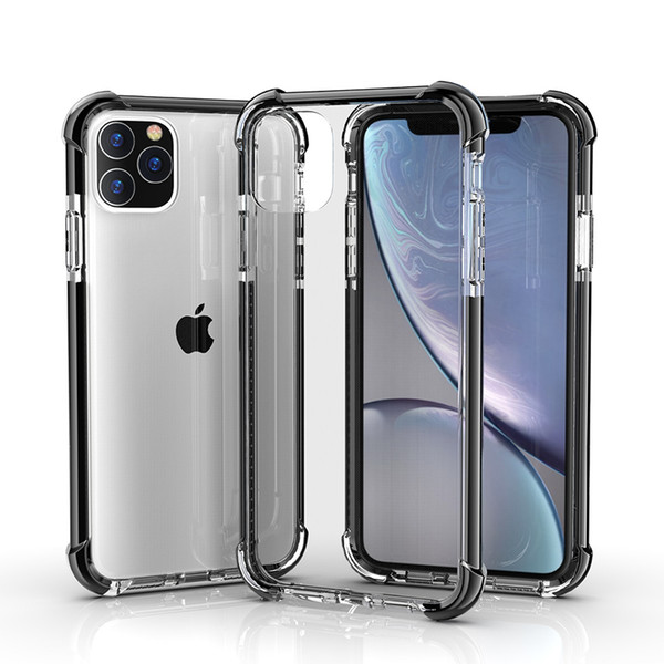 Phone Case For New iPhone 11 2019 XR XS MAX X 7 8 Plus Dual Color Clear Hard Back Cover Anti-Scratch Shock Absorption