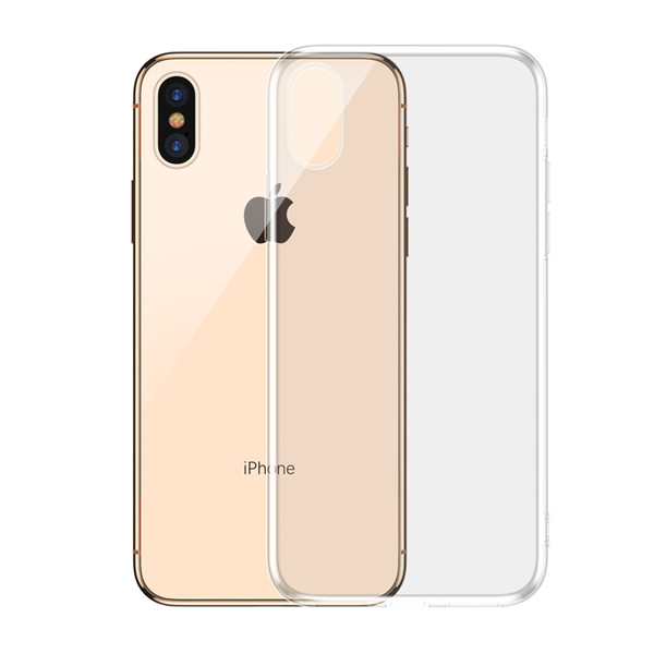 Shock proof transparent case for iPhone XXS XS MAXXR 8 7 6 Plus soft adhesive TPU case transparent cover