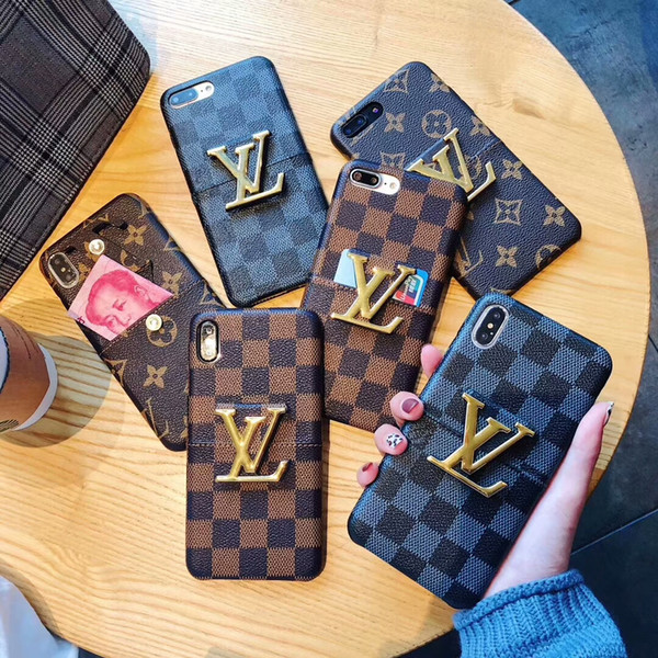 Luxury Designer Phone Case for IPhone X/XS XR XSMAX 6/6S 6plus/6S Plus 7/8 7plus/8plus Fashion Brand Phone Case with Creative Kickstand