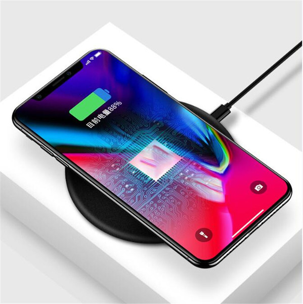QI Wireless Charger For iPhone X 8 plus Samsung S9 S8 Plus Fast Wireless Charging Pad Docking Dock Station