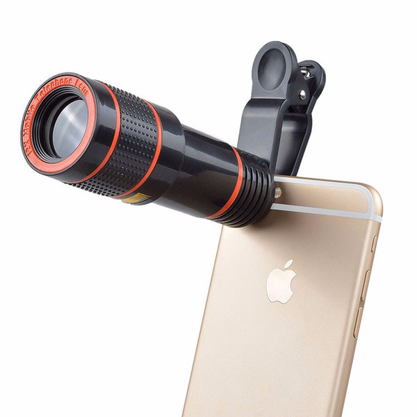 12X Zoom Mobile Telescope Telephone Lens Unniversal Optical Camera Telephoto Phone Lens with Clip