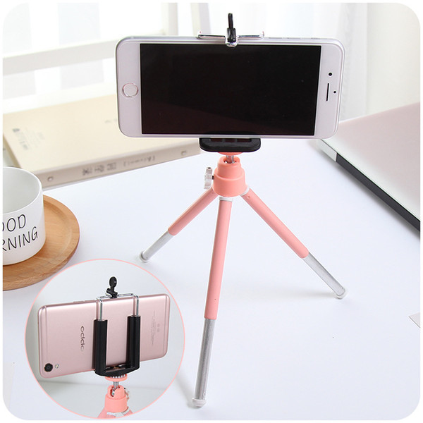 Fashion Camera Phone Holder Tripod Selfie Photograph Bracket Live Video Streaming Stand Mount Mix Color