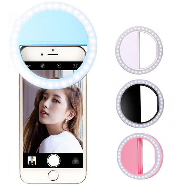 8*3cm 4 Colors Universa LED Fill light for all mobile Cell Phone Selfie Light Beauty flash beauty fill lamp