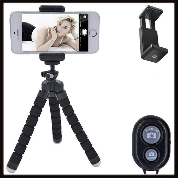 Wireless Selfie Stick Handheld Monopod with Shutter + Mount Holder For iPhone Samsung HTC LG Sony Smartphone Camera camcorde