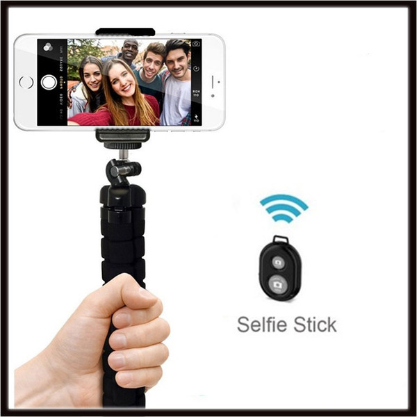 Bluetooth Selfie Stick Handheld Monopod with Shutter + Mount Holder For iPhone Samsung Smartphone Camera camcorde 3 Colors