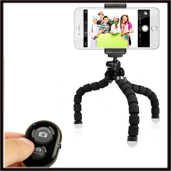 2019 Flexible Octopus Tripod Phone Holder Stand Bracket with Control For Cell Phone Camera Selfie with Bluetooth Remote Shutter