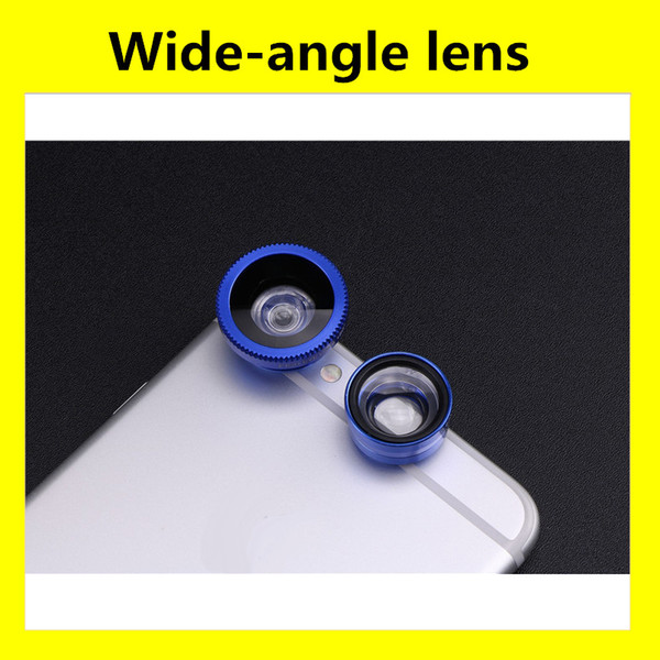 3-in-1 Wide Angle Macro Fisheye Lens Camera Kits Mobile Phone Fish Eye Lenses with Clip 0.67x for iPhone For All Cell Phones