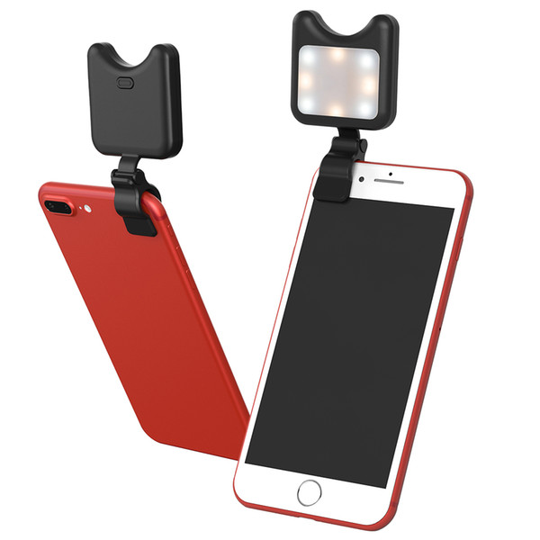Creative Selfie Fill Lighting for Mobile Phone, Easy to Carry Fill Light for Cell Phone, External Makeup LED Fill Light