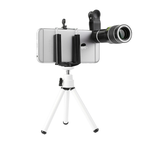 Creative 20 Times Mobile Phone Long Focus Telescopic Lens High-definition External Camera Lens Zoom Focus Mobile Lens Set