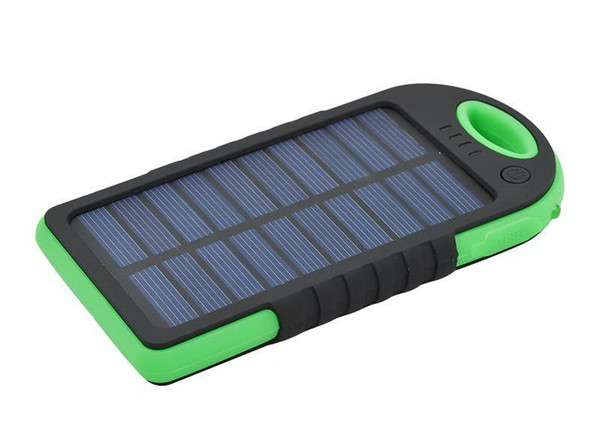 5000mAh Solar power bank waterproof shockproof Dustproof portable Solar powerbank External Battery for Cellphone iPhone 7 8 X Plus