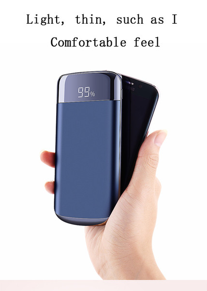 20000mah Power Bank External Battery PoverBank 2 USB LED Powerbank Portable Mobile phone Charger for Xiaomi Samsung LG iphone XS