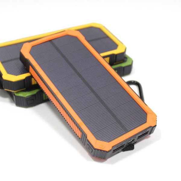 Portable 20000mAh Solar Power Bank Backup Battery Charger For iPhone XR XS MAX X 8 Samsung XiaoMi Android Phone High Quality