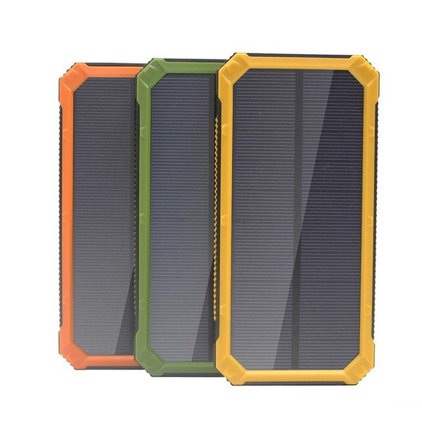 Portable 20000mAh Solar Power Bank Backup Battery Charger For iPhone XR XS MAX X 8 Samsung Android Phone High Quality