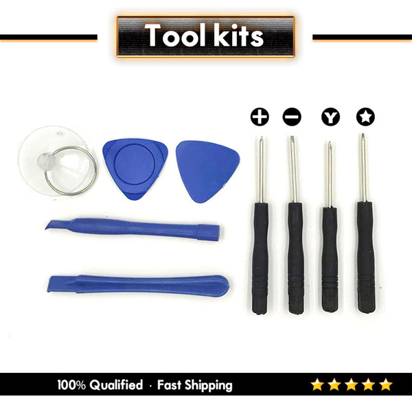 New Arrival Hot Selling Portable Repair tool Kit With 9 in 1 For APPLE iphone 7 8 X & Free shipping