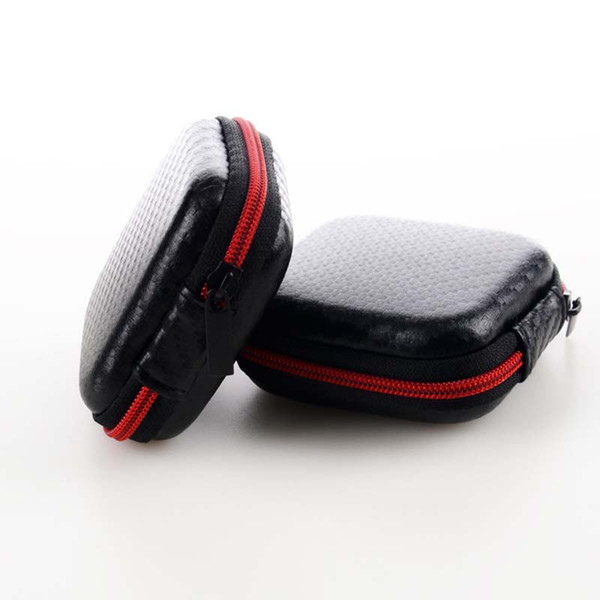 Protable Earphone Case For Headphones case Mini Fiber Zipper Storage Box Hard Bag Headset Case for SD TF cards Earphones