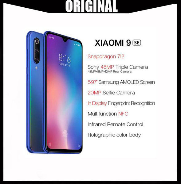 Global Version Xiaomi Mi 9 SE 6GB 128GB Xiaomi Mi9 SE Mobile Phone Snapdragon 712 Octa Core 5.97