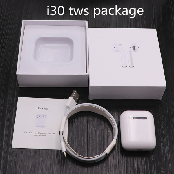 i30 TWS touch Bluetooth Earbuds PK w1 chip 1:1 size LK TE9 LK-TE9 Earphone PK i10 i20 tws i10tws i12 tws i88 i13 i pods Airpods Drop ship