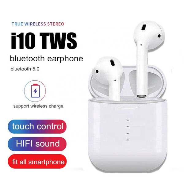 i10 tws i10s tws Bluetooth Earphones Wireless earphone Bluetooth 5.0 Earbuds Touch control headset for all smart phone