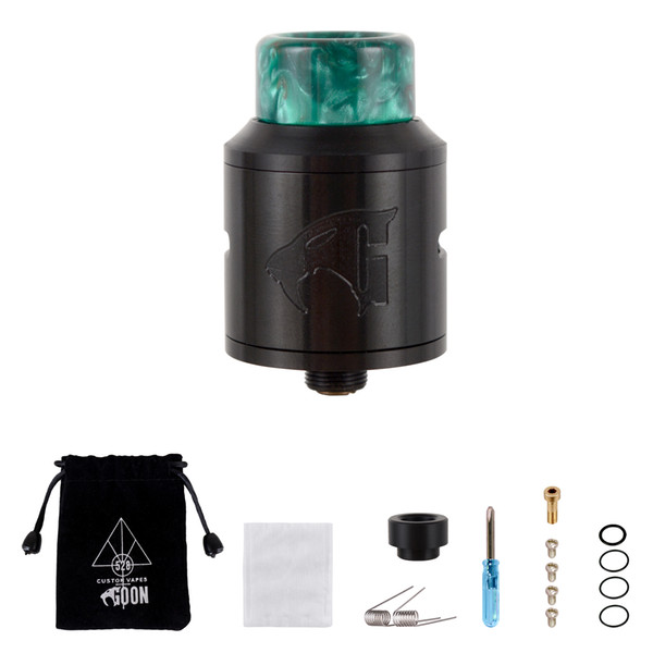 WOLFTEETH RDA Clone Goon V1.5 Portable Bag Type | Rebuildable Dripping Atomizer Dual Coil | Velvet Drawstring Bag 118305-09