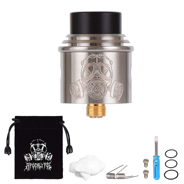 WOLFTEETH RDA Clone Apocalypse Rebuildable Dripping Atomizer Dual Coil Adjustable Air Hole Velvet Drawstring Bag 1213