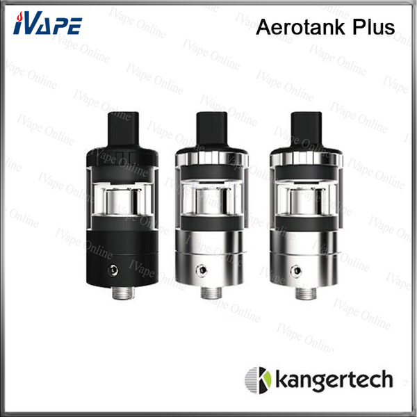 100% Original Kanger Aerotank Plus Atomizer 2ml Aerotank Plus Tank Top Filing With Adjustable Airflow Valve MTL Drip Tip & SSOCC Coil Head