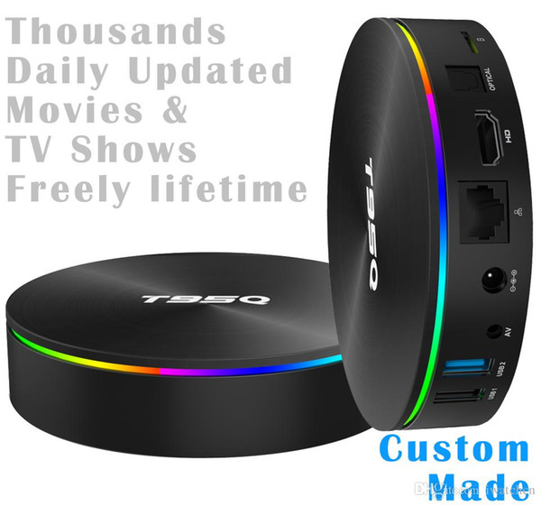 50pcs Custom Made Amlogic S905X2 Quad core 4K Smart Android 8.1 TV Stream Box 4GB RAM 32GB/64GB Thoudsands daily updated movies and tv shows
