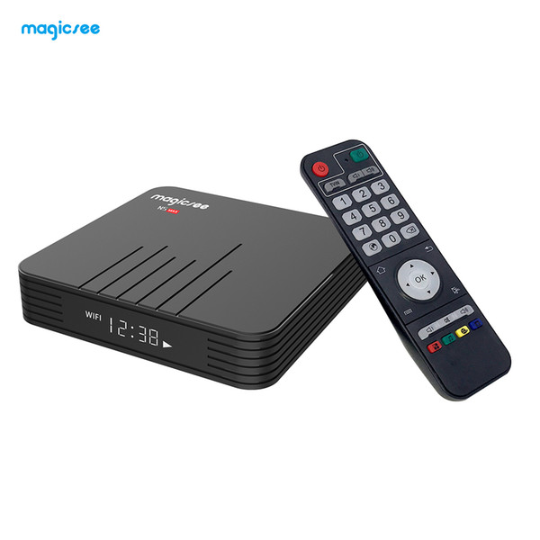 MAGICSEE N5 Max TV Box Android 8.1 Amlogic S905X2 4GB DDR4 32GB EMMC Box TV 2.4GHz 5GHz WiFi BT4.1 Support 4K H.265 Set Top Box