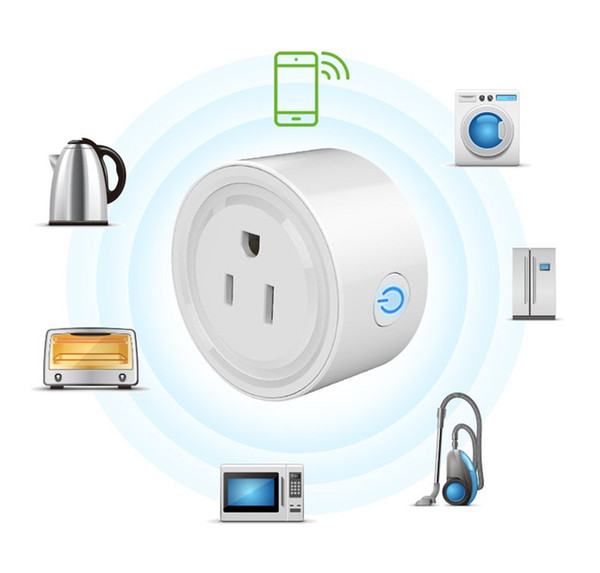 Mini Smart Home WIFI Power Plugs Compatible with Alexa Sonoff Wifi Socket Outlet Automation Phone App Timing Switch Remote Control US Plug