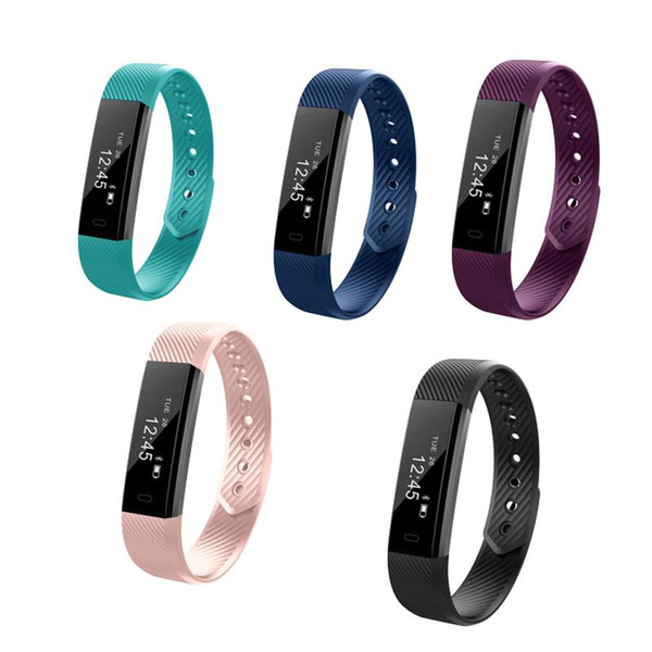 ID115 F0 Smart Bracelets Fitness Tracker Step Counter Activity Monitor Band Alarm Clock Vibration Wristband universal