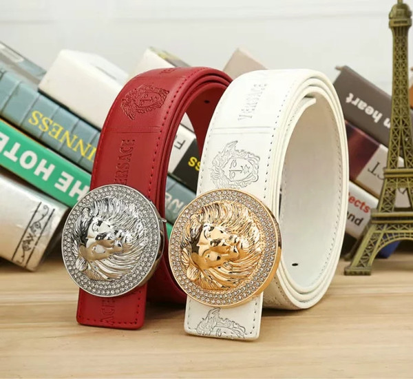 2019 sell high quality design big metal head belt buckle men and women belt wholesale free delivery