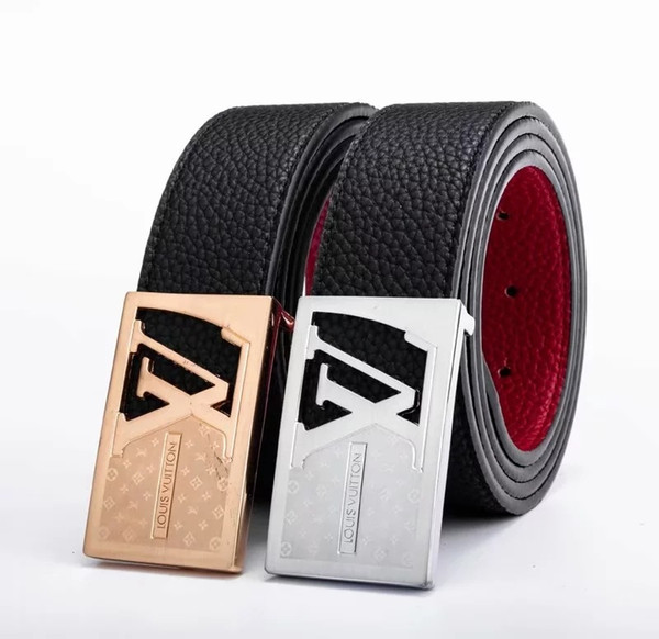 Creative Cowhide Belt For Men Fashione Mbossing Waistband Metal Automatic Shaped Buckle Design Women Leather Girdle New Arrival