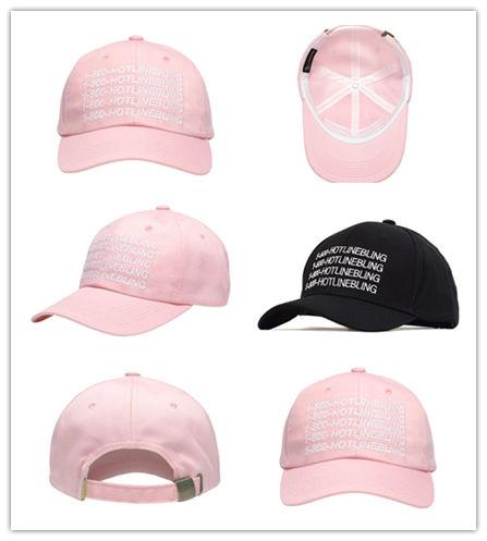 Good Quality Outdoor Visor pink 1-800-HOTLINEBLING Strapback hats 6 panel snapback POLOs Baseball cap DENIM HAT