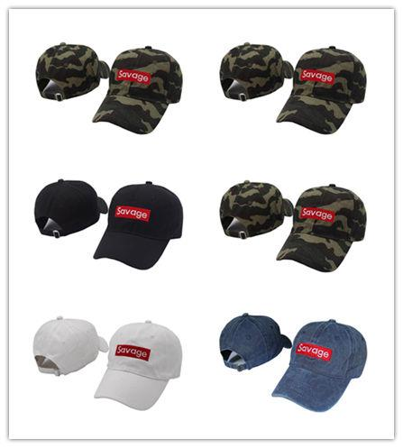 High Quality Savage Box Logo Dad Hat Kanye West LIT palace Hat drake ovo Embroidered Baseball Cap Curved Bill 100% Cotton
