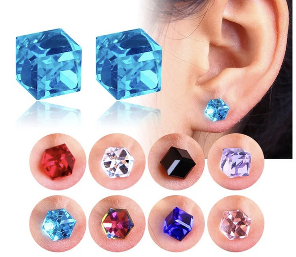 Healthcare magnet color drill crystal ear nail without ear hole strong magnetic magnet absorber magnet false Earrings